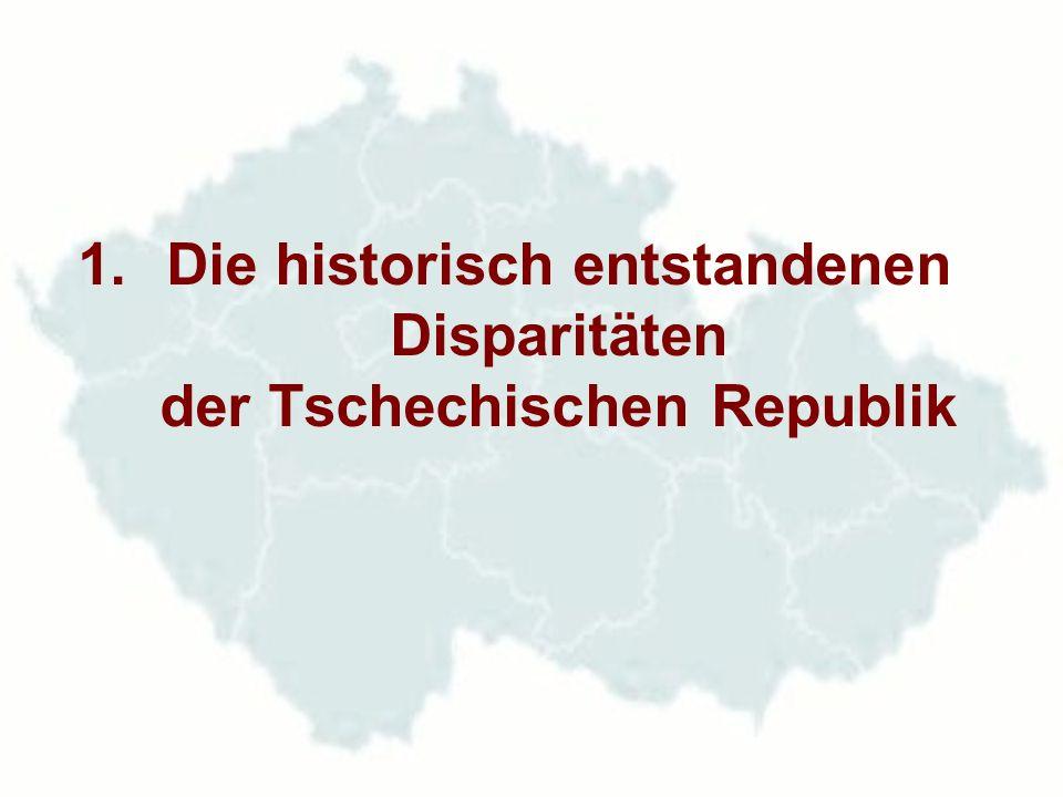 Die ökonomische Entwicklung zwischen den Weltkriegen und ihr Einfluss auf die politische Situation der Tschechoslowakischen Republik In Böhmen und Mähren war bei 26 % der Bevölkerung der ehemaligen Österreich - Ungarischen Monarchie 70 % ihrer Industriestärke konzentriert.