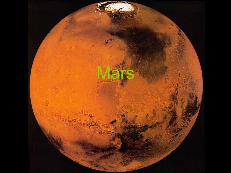 Zusammensetzung der Atmosphäre Mars Kohlendioxid (CO ² ) : 95,32% Sauerstoff (O 2 ) : 0,13% Stickstoff (N) : 2,7% Erde Kohlendioxid (CO ² ): 0,038 % Sauerstoff (O 2 ): 20,946 % Stickstoff (N): 78,084 %