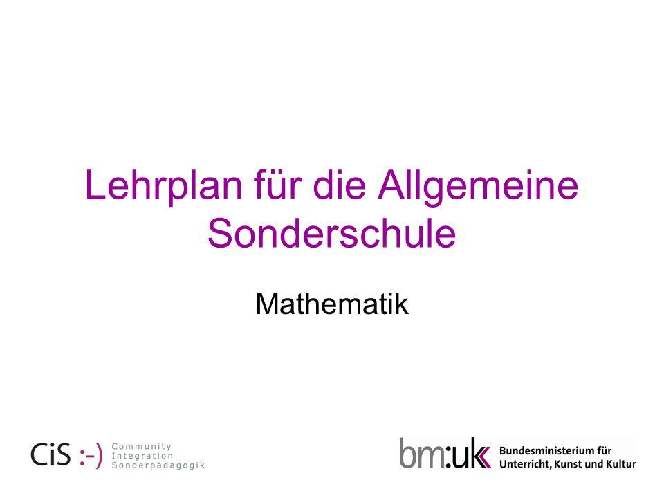 Lehrplan für die Allgemeine Sonderschule Mathematik