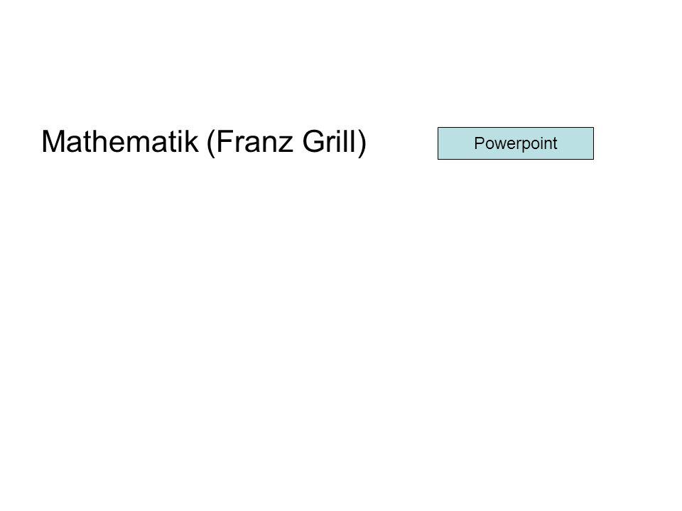Mathematik (Franz Grill) Powerpoint