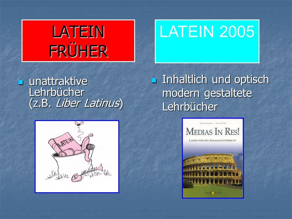 LATEIN FRÜHER unattraktive Lehrbücher (z.B. Liber Latinus) unattraktive Lehrbücher (z.B.