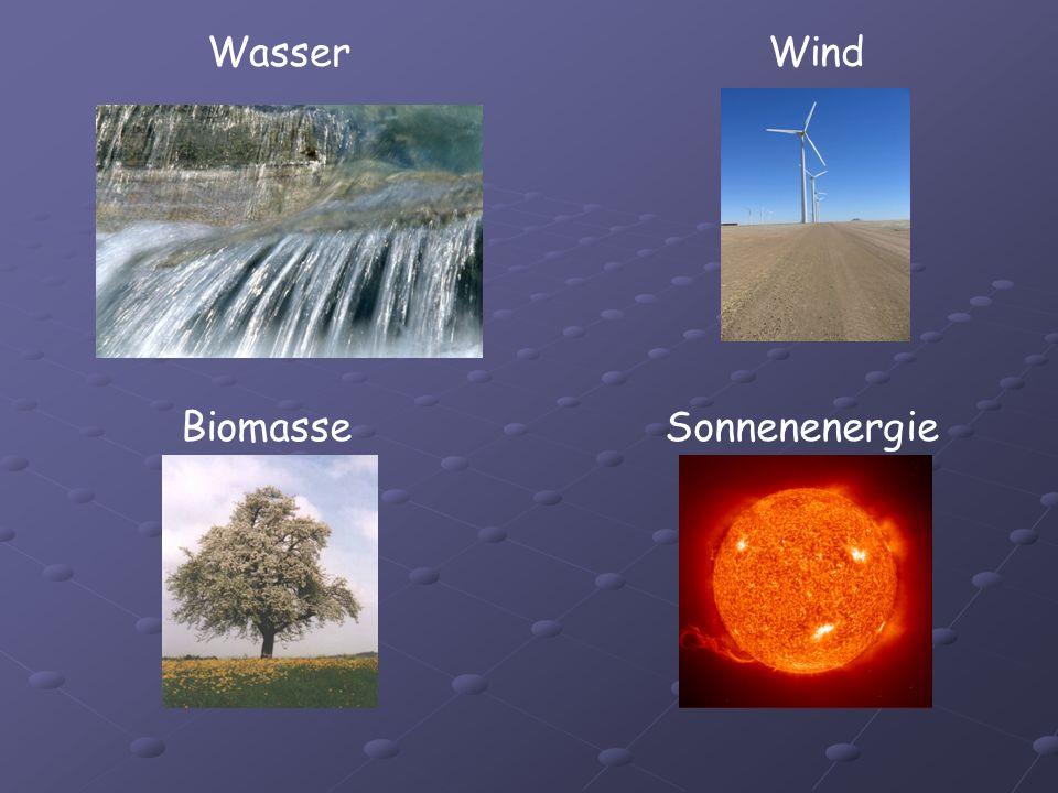 WasserWind BiomasseSonnenenergie