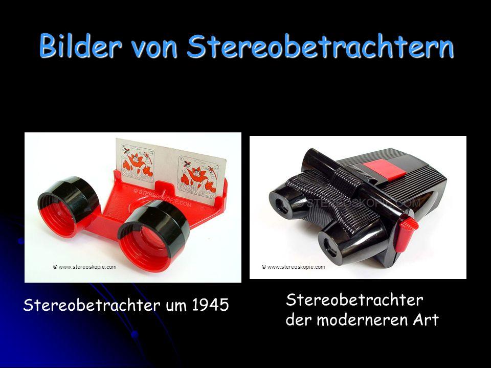 Bilder von Stereobetrachtern Stereobetrachter um 1945 Stereobetrachter der moderneren Art © www.stereoskopie.com