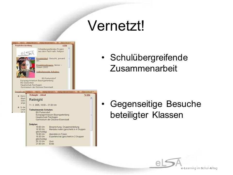 e-Learning im Schul-Alltag Vernetzt.
