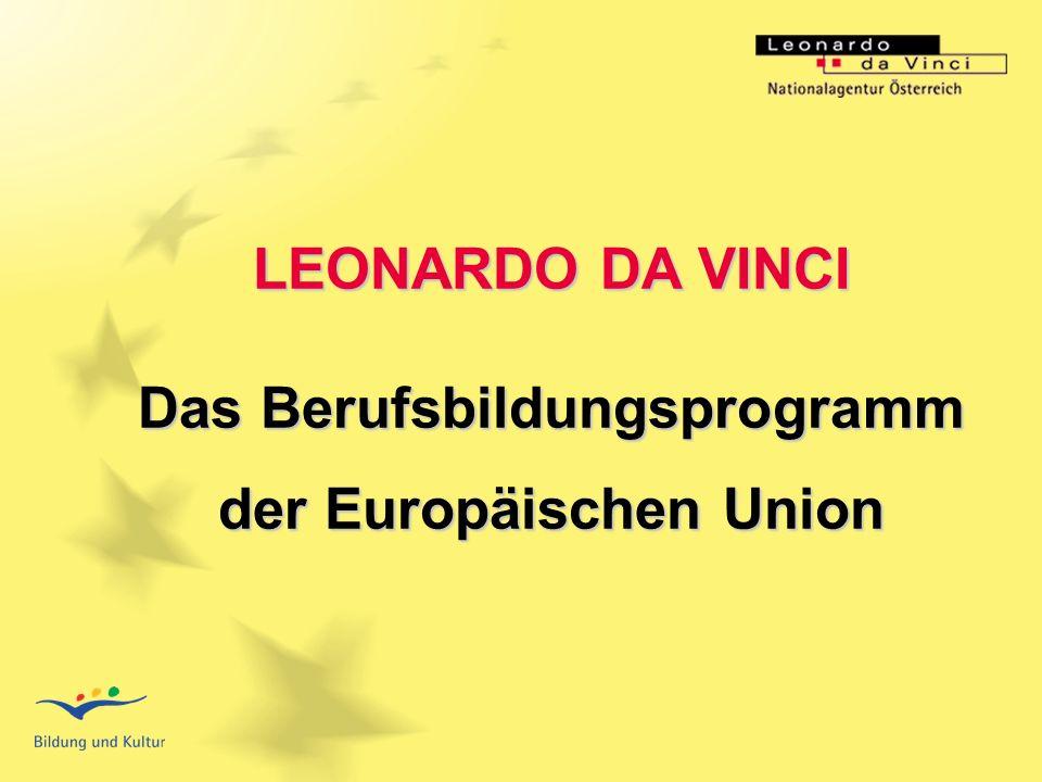 BSO - Österreichische Bundes- Sportorganisation Titel der Veranstaltung LEONARDO DA VINCI Das Berufsbildungsprogramm der Europäischen Union