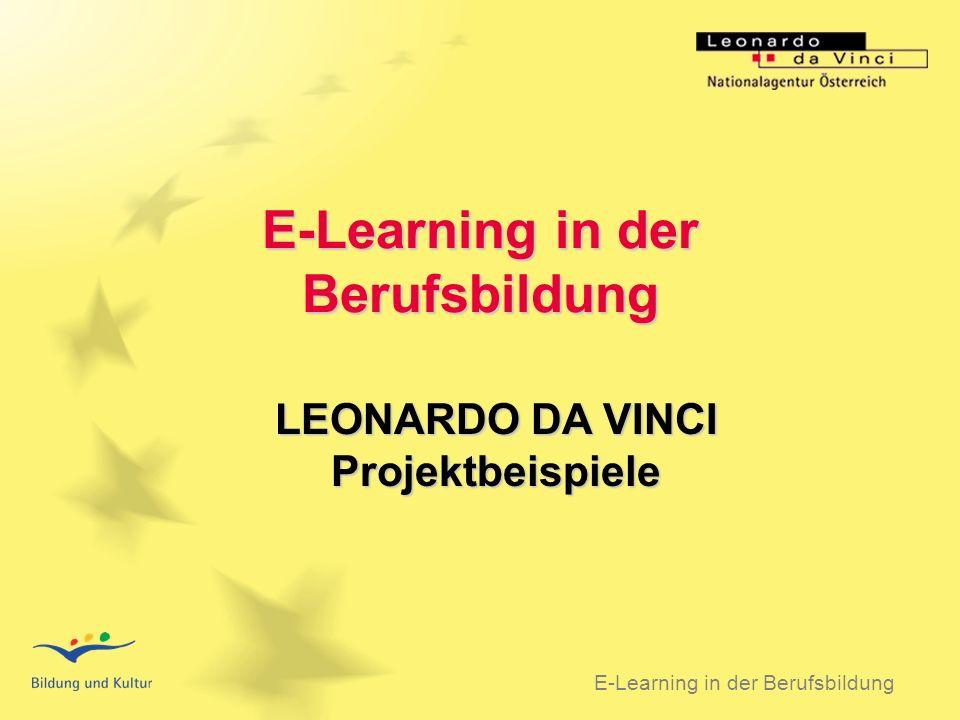 BSO 31.03.2003 E-Learning in der Berufsbildung LEONARDO DA VINCI Projektbeispiele