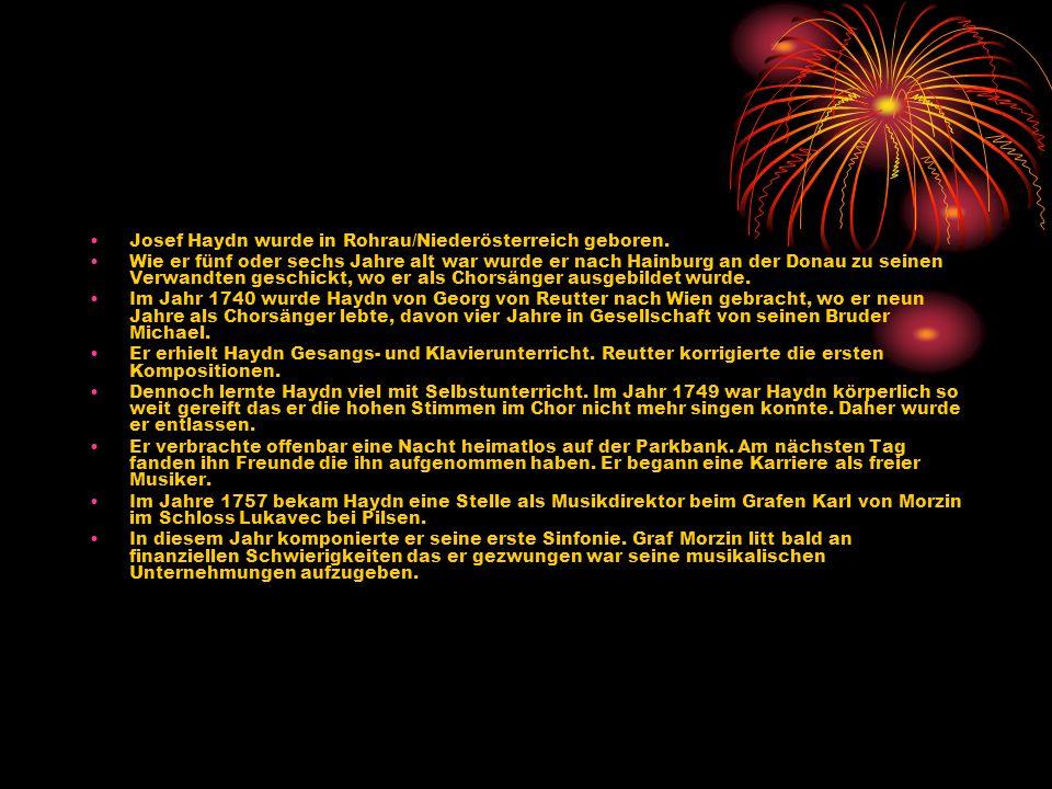 Referat von Christoph Waldburger Josef Haydn
