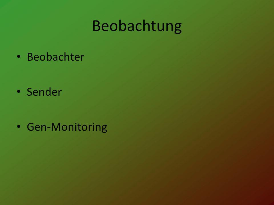Beobachtung Beobachter Sender Gen-Monitoring