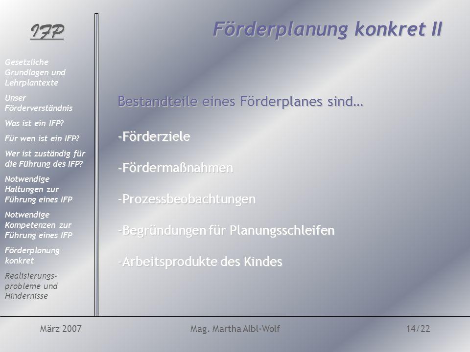 IFP März 2007Mag.