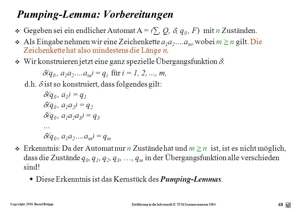 Copyright 2004 Bernd Brügge Einführung in die Informatik II TUM Sommersemester 2004 67 Sprachen erzeugen interessante Probleme v Wenn wir Sprachen dur