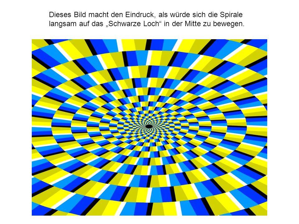 Dieses Bild macht den Eindruck, als würde sich die Spirale langsam auf das Schwarze Loch in der Mitte zu bewegen.