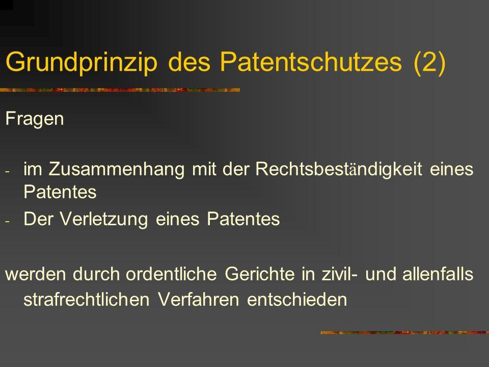 Internationale Situation: Ausgangslage Weltwirtschaft legte sich Grundregeln im WTO/TRIPS- Vertrag PCT- Vertrag erlaubt vereinfachte Patentanmeldung in einer Vielzahl von L ä ndern.
