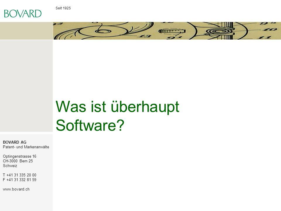 Seit 1925 BOVARD AG Patent- und Markenanwälte Optingenstrasse 16 CH-3000 Bern 25 Schweiz T +41 31 335 20 00 F +41 31 332 81 59 www.bovard.ch Was ist ü