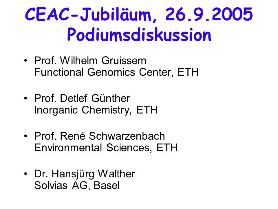 CEAC-Jubiläum, 26.9.2005 Podiumsdiskussion Prof.