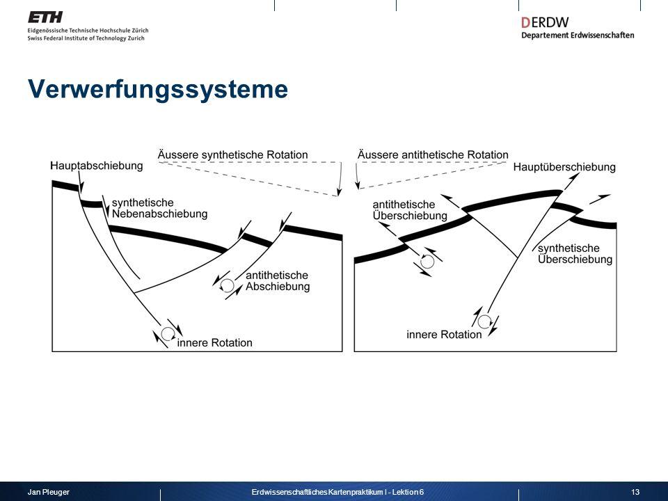 Jan Pleuger13Erdwissenschaftliches Kartenpraktikum I - Lektion 6 Verwerfungssysteme
