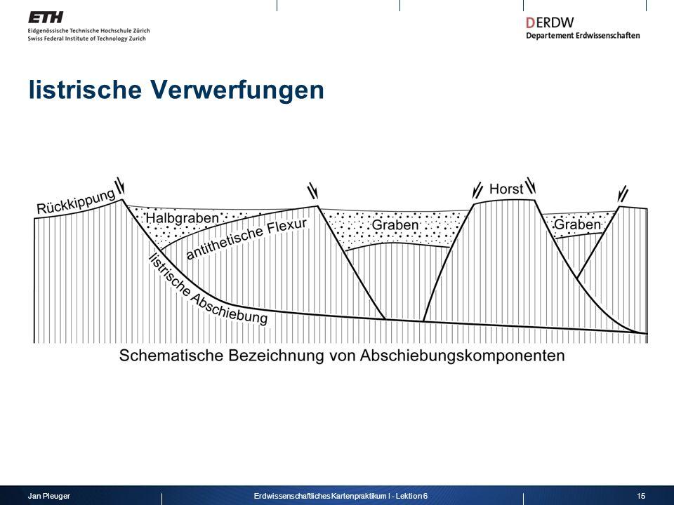 Jan Pleuger15Erdwissenschaftliches Kartenpraktikum I - Lektion 6 listrische Verwerfungen