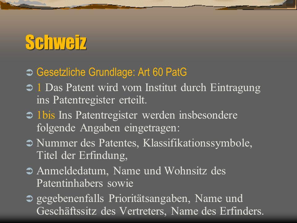 Schweiz Art.