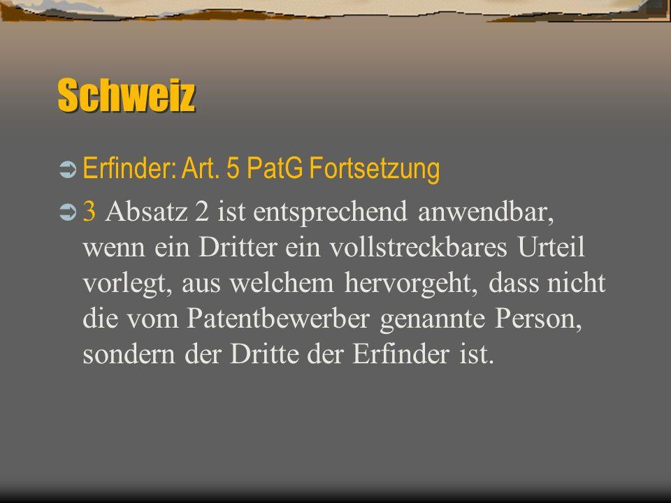 Schweiz Ü bertragung: Art.