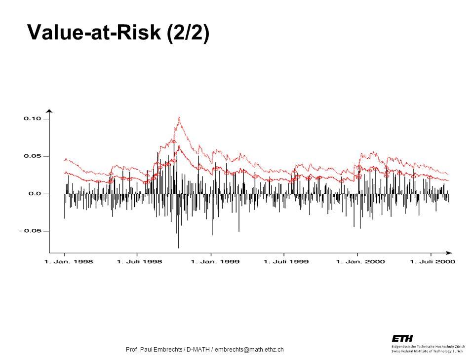 26. April 2005 Prof. Paul Embrechts / D-MATH / embrechts@math.ethz.ch 13 Value-at-Risk (2/2)