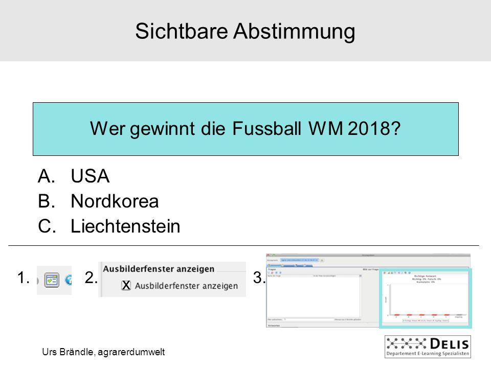 Urs Brändle, agrarerdumwelt Wer gewinnt die Fussball WM 2018.