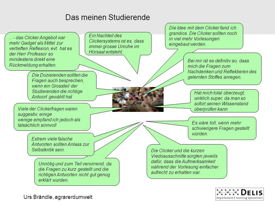 Urs Brändle, agrarerdumwelt Das meinen Studierende..
