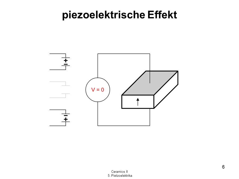 Ceramics II 5. Pietzoelektrika 6 piezoelektrische Effekt