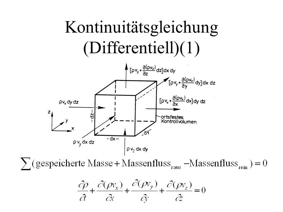 Kontinuitätsgleichung (Differentiell)(1)