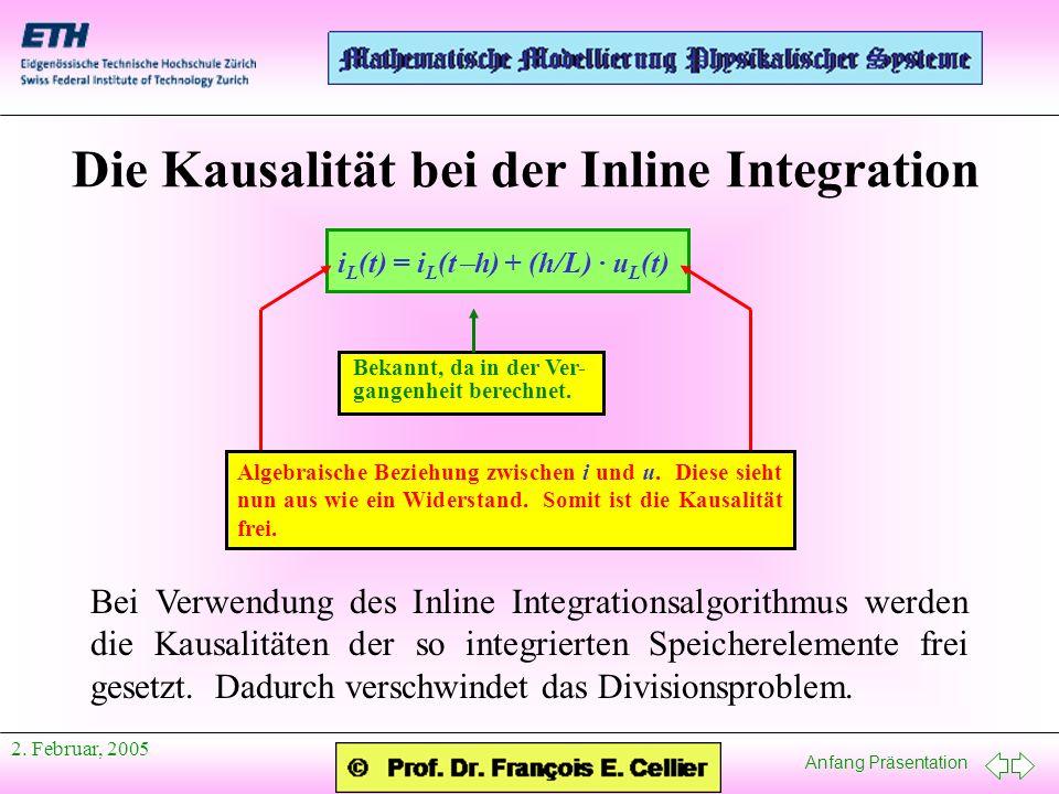 Anfang Präsentation 2.Februar, 2005 Referenzen I Elmqvist, H., M.