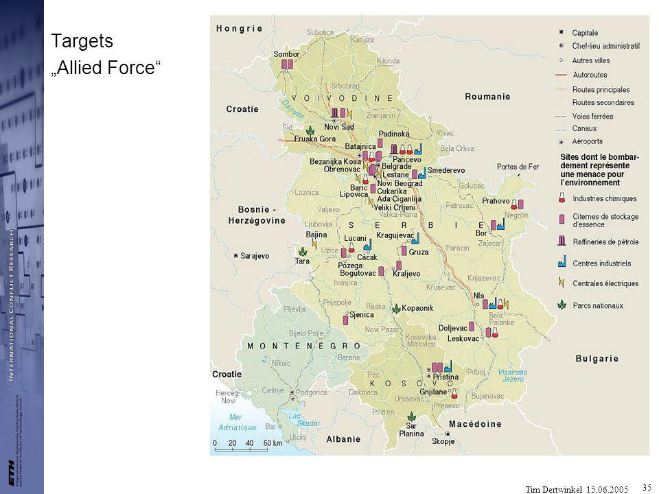 Tim Dertwinkel 15.06.2005 35 Targets Allied Force