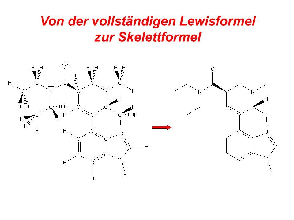 Von der vollständigen Lewisformel zur Skelettformel Finalement!