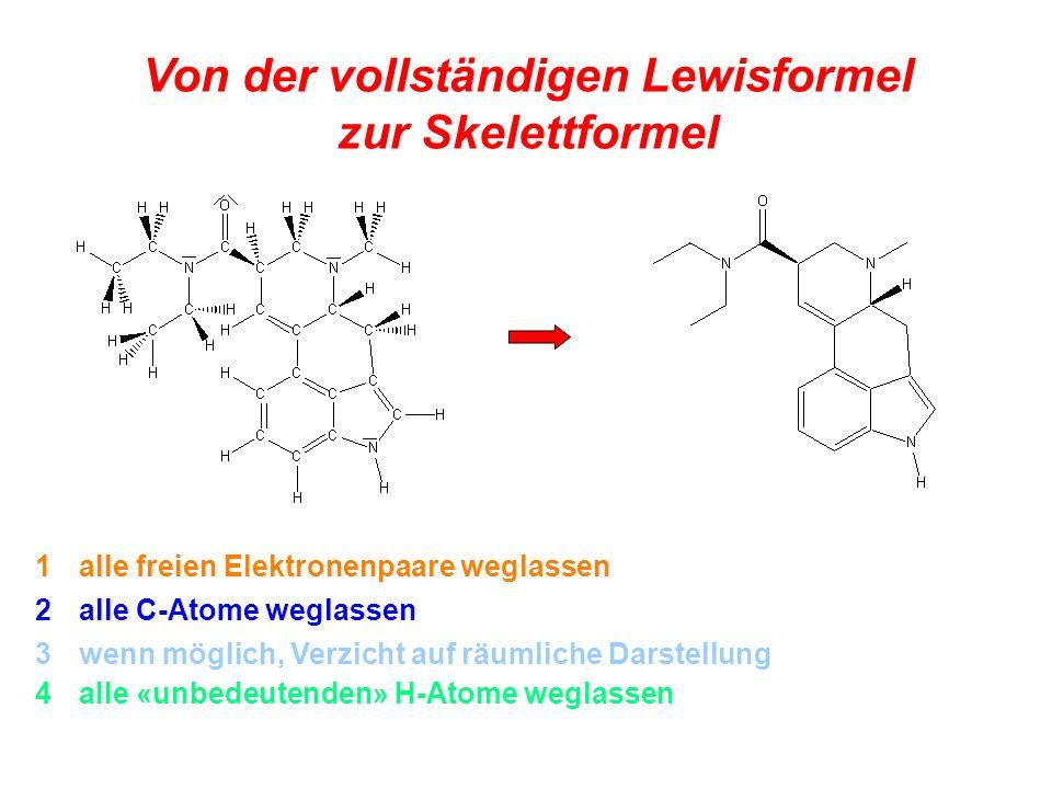 Von der vollständigen Lewisformel zur Skelettformel
