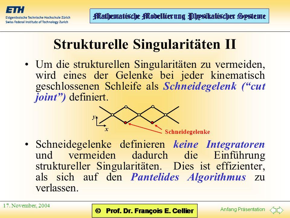 Anfang Präsentation 17.November, 2004 Referenzen Otter, M., H.