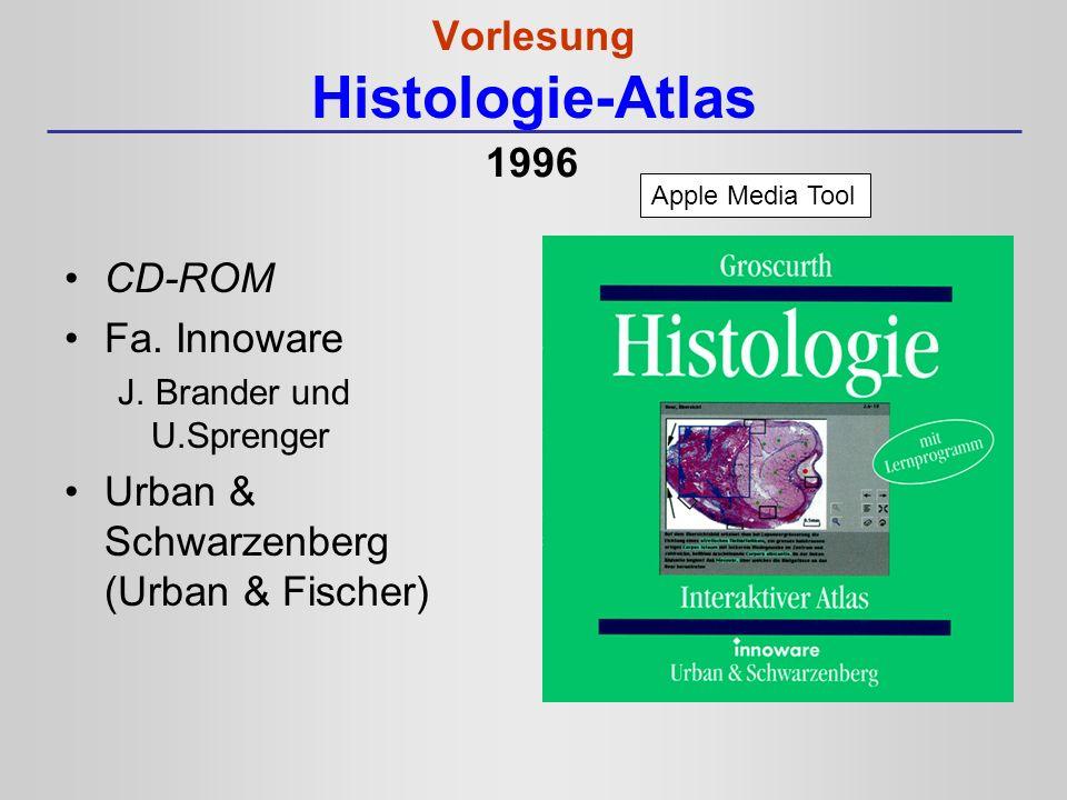 Vorlesung Histologie-Atlas CD-ROM Fa. Innoware J. Brander und U.Sprenger Urban & Schwarzenberg (Urban & Fischer) Apple Media Tool 1996