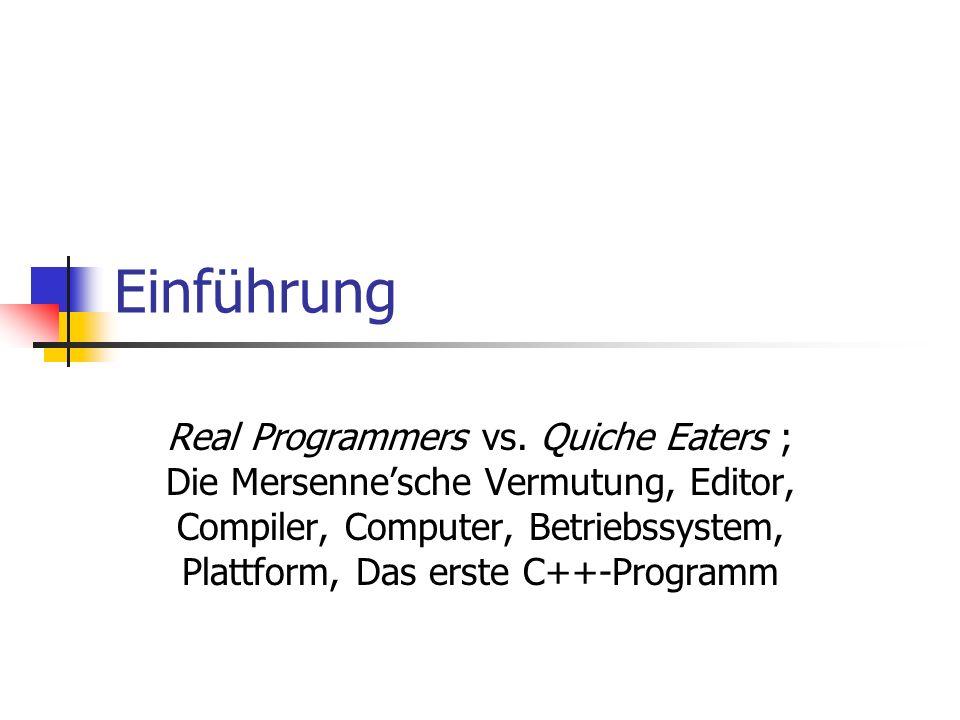Einführung Real Programmers vs.