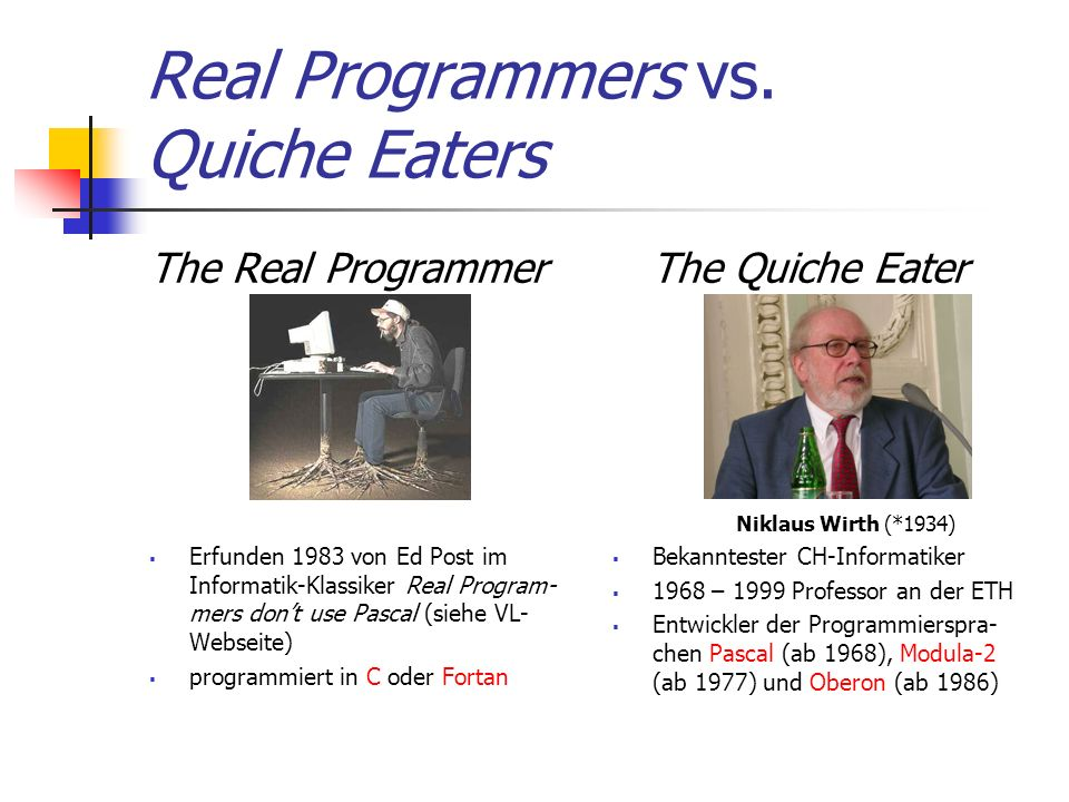 Real Programmers vs.