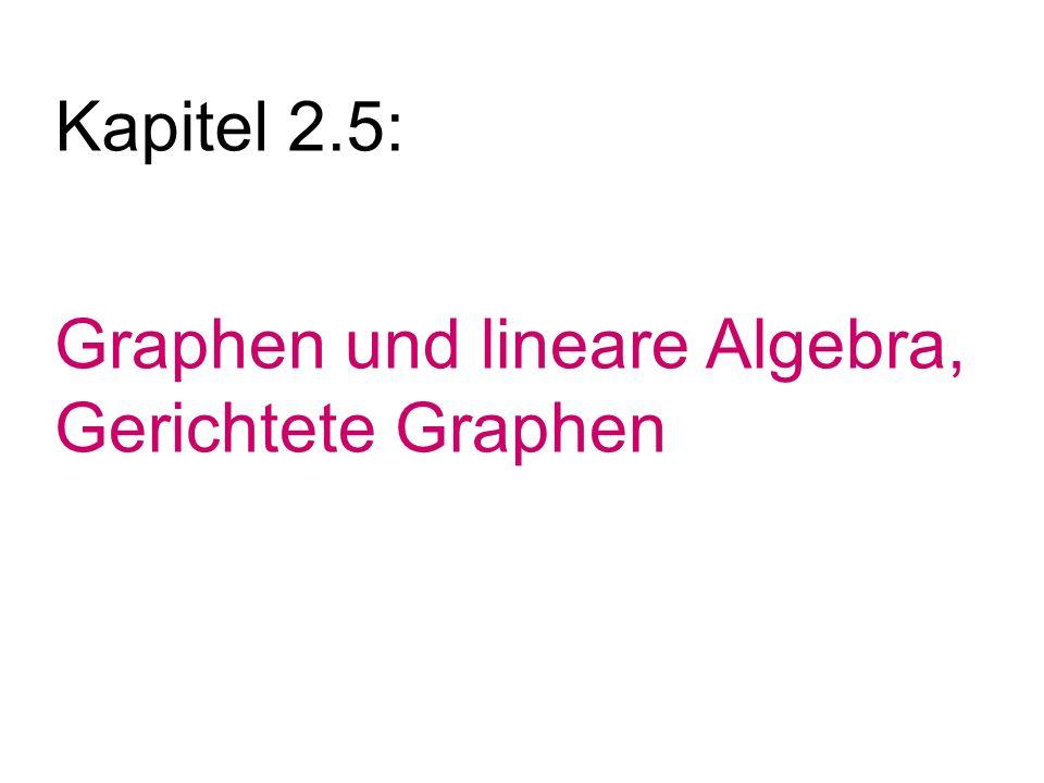 Graphen und lineare Algebra, Gerichtete Graphen Kapitel 2.5: