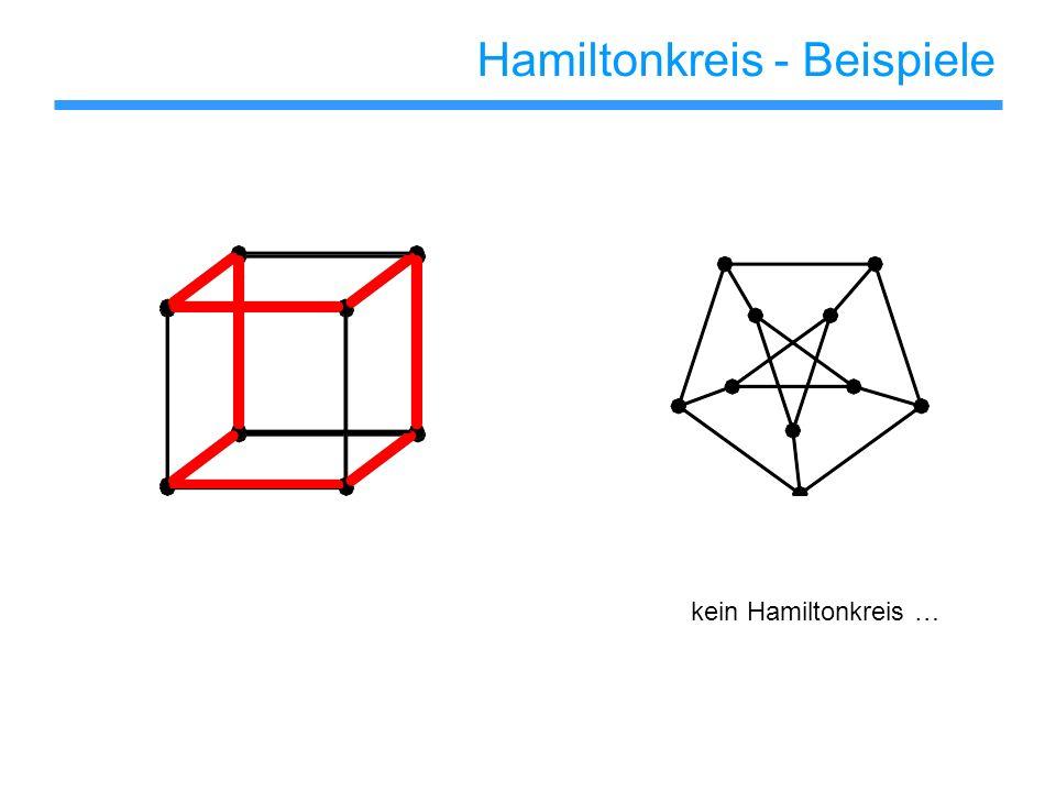 NP-Vollständigkeit Karp (1972) Das Problem Gegeben ein Graph G=(V,E), enthält G einen Hamiltonkreis.