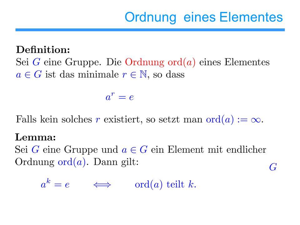 Ordnung eines Elementes