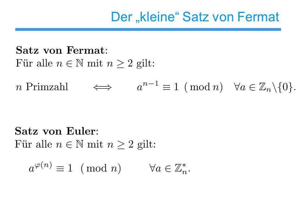 Der kleine Satz von Fermat