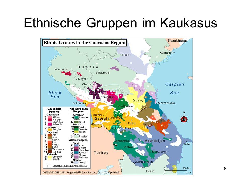 6 Ethnische Gruppen im Kaukasus