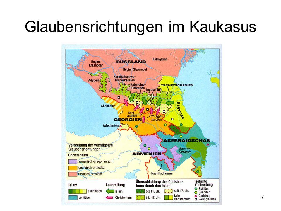 7 Glaubensrichtungen im Kaukasus