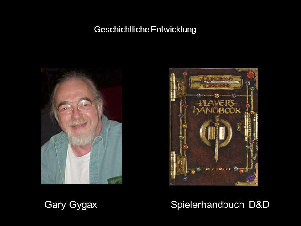 Geschichtliche Entwicklung von Reisswitz 1811 Gary Gygax 1972