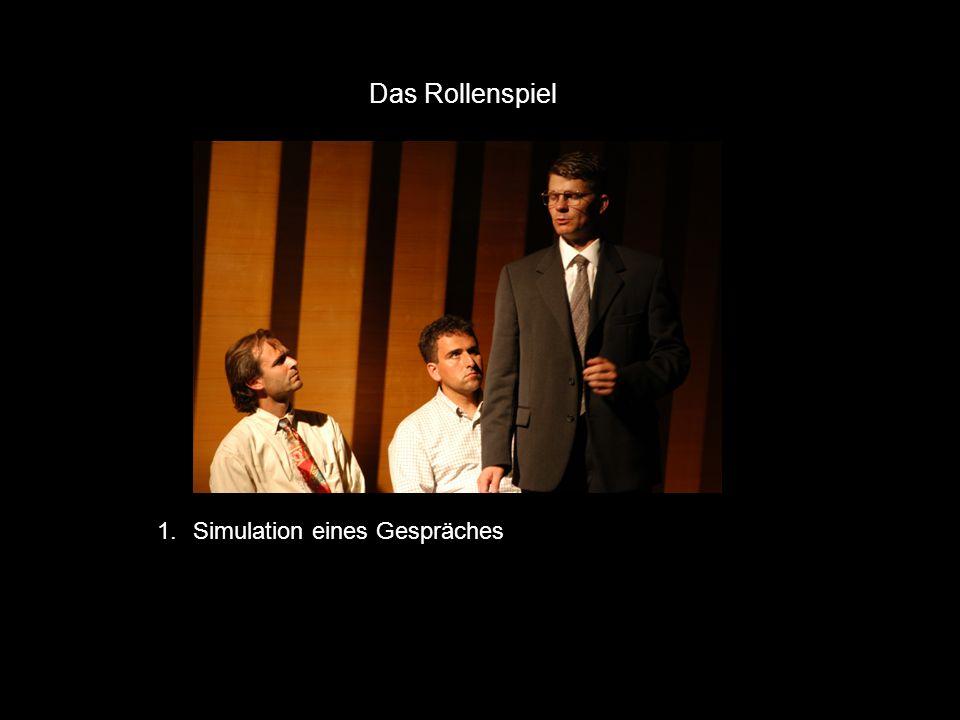 Das Rollenspiel 1. Simulation eines Gespräches