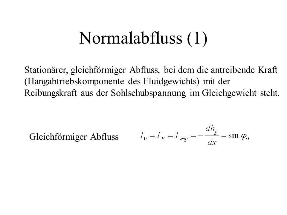 Örtliche Verluste in Gerinnen Pfeilerstau = Verbauungsgrad = b Pfeiler /b ges 0 = Formbeiwert des Pfeilers