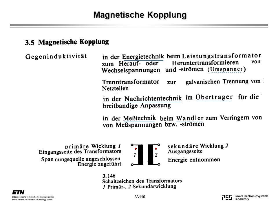 Magnetische Kopplung V-116