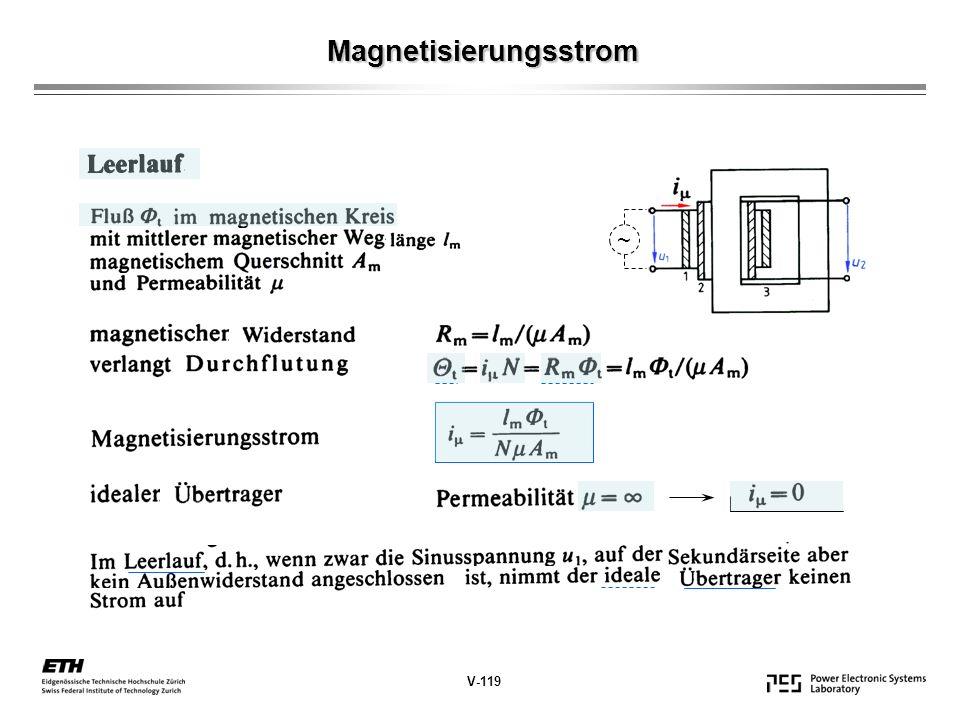 Magnetisierungsstrom V-119 ~