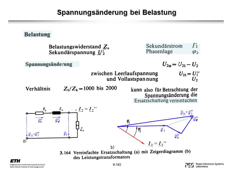 Spannungsänderung bei Belastung V-143