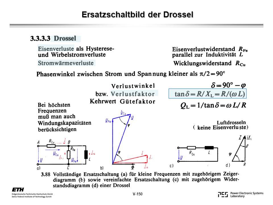 Ersatzschaltbild der Drossel V-150 ( )