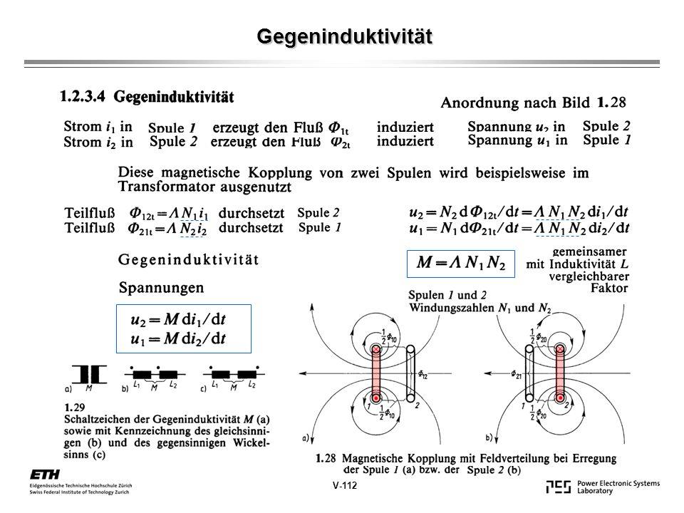 Gegeninduktivität V-112