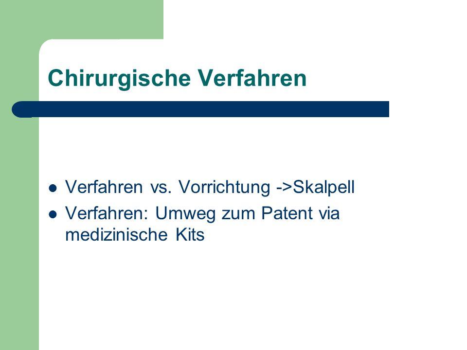 Chirurgische Verfahren Verfahren vs.